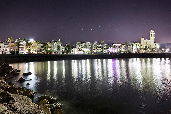 Fotografía Sitges de noche